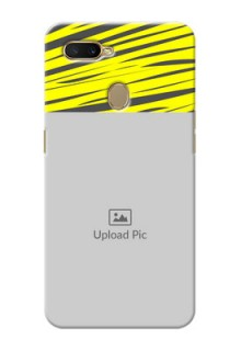 Oppo A5s Personalised mobile covers: Yellow Abstract Design