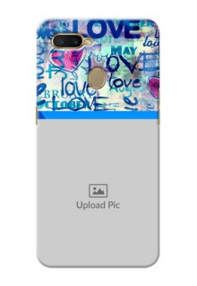 Oppo A7 Mobile Covers Online: Colorful Love Design