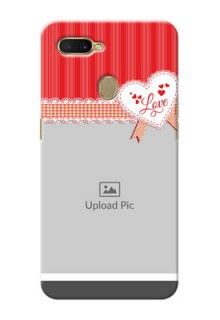 Oppo A7 phone cases online: Red Love Pattern Design