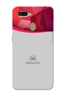 Oppo A7 custom mobile back covers: Red Abstract Design