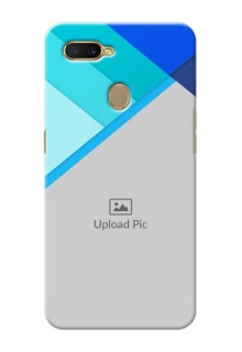 Oppo A7 Phone Cases Online: Blue Abstract Cover Design