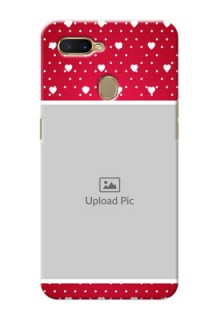 Oppo A7 custom back covers: Hearts Mobile Case Design