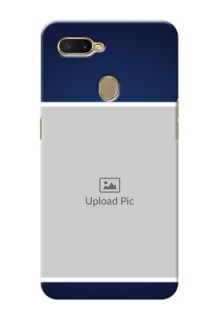 Oppo A7 Mobile Cases: Simple Royal Blue Design