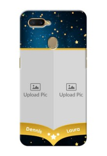 Oppo A7 Mobile Covers Online: Galaxy Stars Backdrop Design