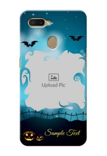 Oppo A7 Personalised Phone Cases: Halloween frame design