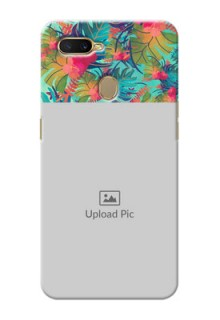 Oppo A7 Personalized Phone Cases: Watercolor Floral Design