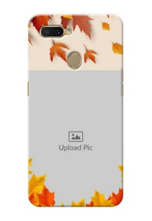 Oppo A7 Mobile Phone Cases: Autumn Maple Leaves Design