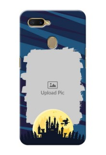 Oppo A7 Back Covers: Halloween Witch Design