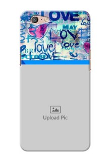 Oppo A71 Colourful Love Patterns Mobile Case Design