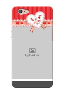 Oppo A71 Red Pattern Mobile Cover Design