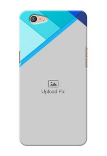 Oppo A71 Blue Abstract Mobile Cover Design
