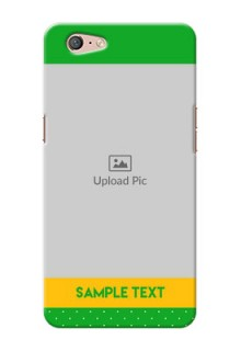 Oppo A71 Green And Yellow Pattern Mobile Cover Design
