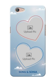 Oppo A71 couple heart frames with sky backdrop Design