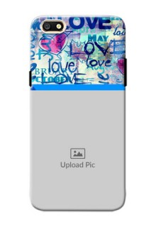 Oppo A77 Colourful Love Patterns Mobile Case Design