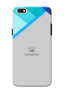 Oppo A77 Blue Abstract Mobile Cover Design