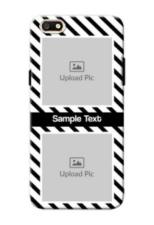 Oppo A77 2 image holder with black and white stripes Design