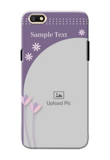 Oppo A77 lavender background with flower sprinkles Design Design