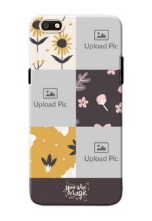 Oppo A77 3 image holder with florals Design