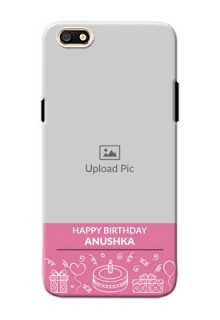 Oppo A77 plain birthday line arts Design Design