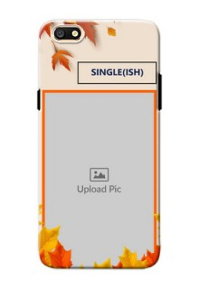 Oppo A77 autumn maple leaves backdrop Design