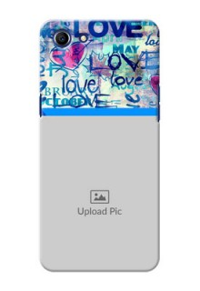 Oppo A83 Colourful Love Patterns Mobile Case Design