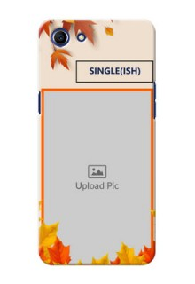 Oppo A83 autumn maple leaves backdrop Design
