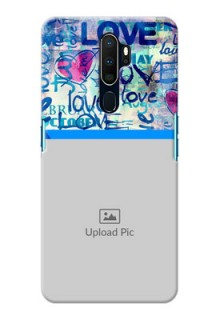 Oppo A9 2020 Mobile Covers Online: Colorful Love Design