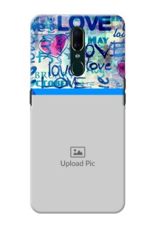 Oppo A9 Mobile Covers Online: Colorful Love Design