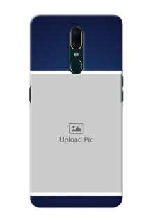 Oppo A9 Mobile Cases: Simple Royal Blue Design