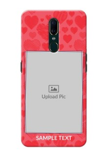 Oppo A9 Mobile Back Covers: with Red Heart Symbols Design