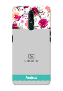 Oppo A9 Personalized Mobile Cases: Watercolor Floral Design