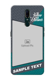 Oppo A9 Back Covers: Background Pattern Design with Quote