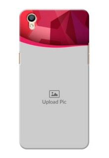 Oppo F1 Plus Red Abstract Mobile Case Design