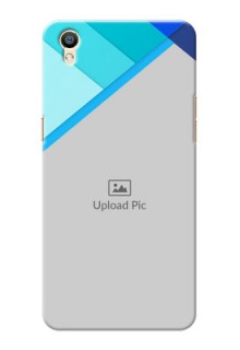 Oppo F1 Plus Blue Abstract Mobile Cover Design