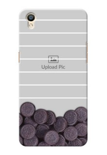 Oppo F1 Plus oreo biscuit pattern with white stripes Design Design