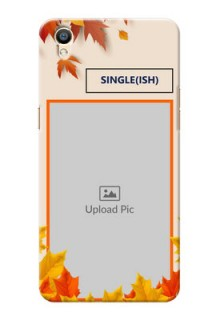 Oppo F1 Plus autumn maple leaves backdrop Design