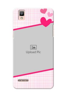 Oppo F1 Pink Design With Pattern Mobile Cover Design