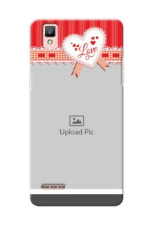 Oppo F1 Red Pattern Mobile Cover Design