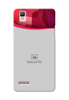 Oppo F1 Red Abstract Mobile Case Design