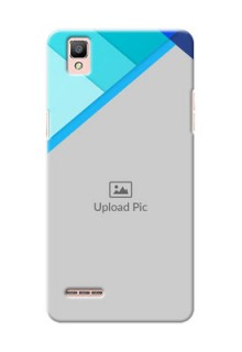 Oppo F1 Blue Abstract Mobile Cover Design