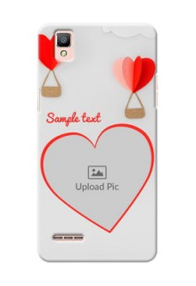 Oppo F1 Love Abstract Mobile Case Design