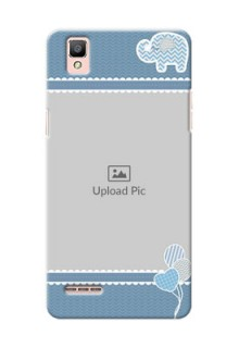 Oppo F1 kids design icons with  simple pattern Design