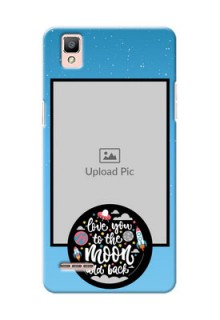 Oppo F1 love quote with zig zag pastel pattern Design