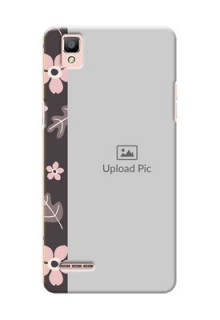Oppo F1 stylish floral side Design