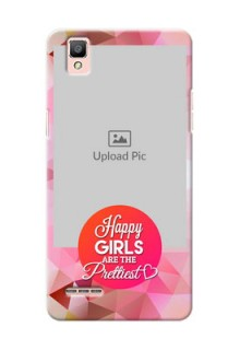 Oppo F1 abstract traingle design with girls quote Design