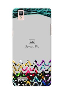 Oppo F1 neon background with abstract Design