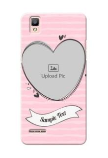 Oppo F1 seamless stripes with vintage heart shape Design