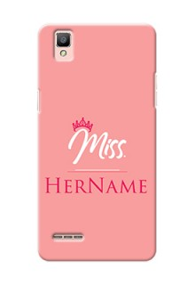 Oppo F1 Custom Phone Case Mrs with Name