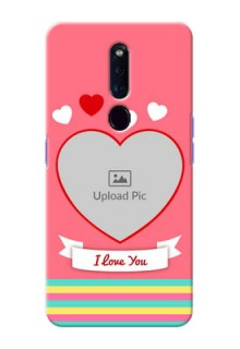 Oppo F11 Pro Personalised mobile covers: Love Doodle Design