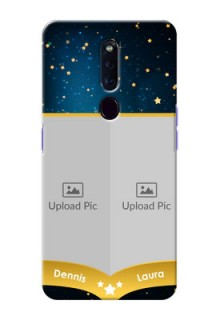 Oppo F11 Pro Mobile Covers Online: Galaxy Stars Backdrop Design